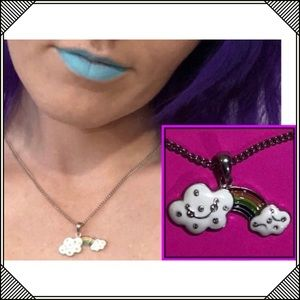 * Super Cute * Rainbow Cloud charm Necklace * NEW